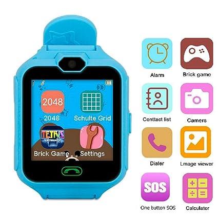 Hangang Teléfono Inteligente Juego Relojes para Niños,Kid Smartwatch Camara Juegos Táctil Pantalla Cool Juguetes Reloj Regalos para Niñas Niños Niños: ...