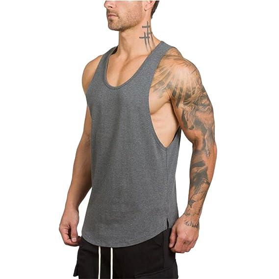 Camisetas de Tirantes Hombres, SHOBDW Body de Musculación de ...