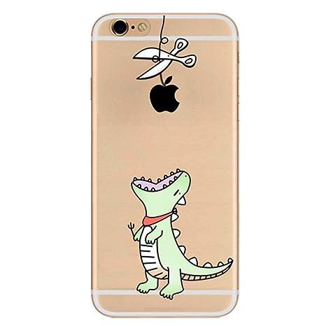 Freessom Coque Iphone 5 5s Silicone Transparent Avec Motif Dinosaur