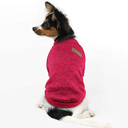 f474150cea88 Idepet Pet Dog Classic Knitwear Sweater Fleece Coat Soft Thickening Warm  Pup Dogs Shirt Winter Pet Dog Cat Clothes Soft Puppy Customes Clothing for  Small ...