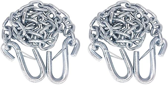 Uriah Products UT200197 1//4 x 36 Safety Chain S-hooks on both ends