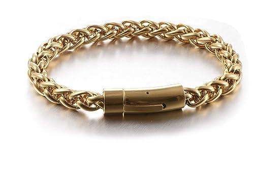 Amazon.com: Yumay Pulsera de cadena de acero inoxidable para ...