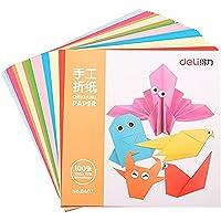 deli 6407 Square Origami Colour Paper, 15 x 15cm (100 Pieces) Multicolor