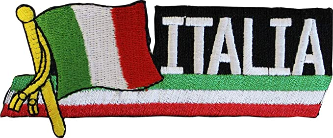 Official Flag Embroidered Patch Italy Highest Top Quality Italia