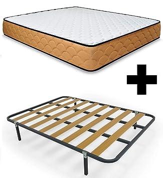 Duermete Cama Completa con Colchón Viscoelástico Memory Reversible + Somier con Patas, 135 X 190: Amazon.es: Juguetes y juegos