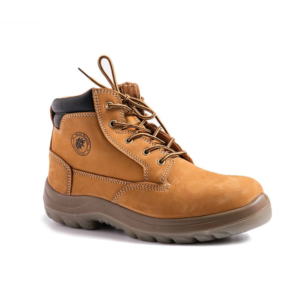 Rockrooster CABALLO Men's Comfortable Work Boots with Water Resistant Nubuck Leather Slip-Resistant Safety Boots AC662