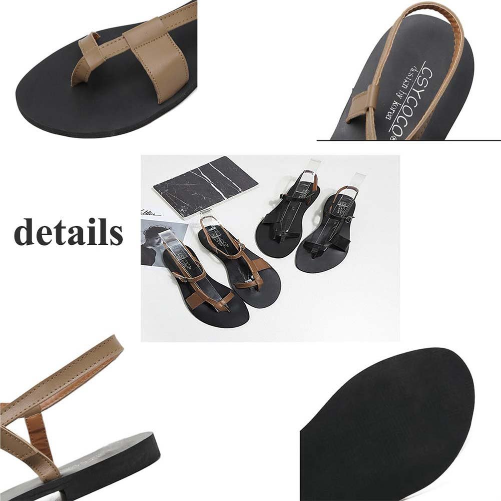 Clip Toe flache flache Toe Sandalen Casual Schuhe Frauen Comforty Open Toe D'orsay Slingback römische Schuhe Strand Schuhe Eu Größe 35-39 8d5701