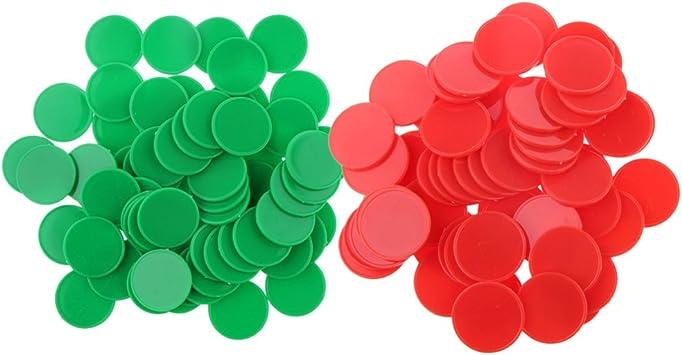 IPOTCH 200pcs Fichas De Marcadores De Fichas De Póker De Plástico para Piezas De Juego De Mesa De Casino De Fiesta: Amazon.es: Juguetes y juegos