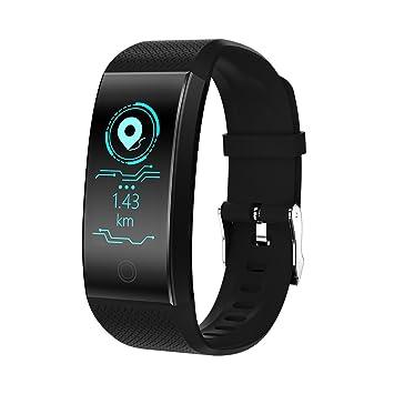PINCHU QW18 Smart Watch Smartwatch Bluetooth Reloj Digital Muñeca Reloj Deportivo IP68 Teléfono con Los Hombres para iPhone Android Samsung,Black: ...