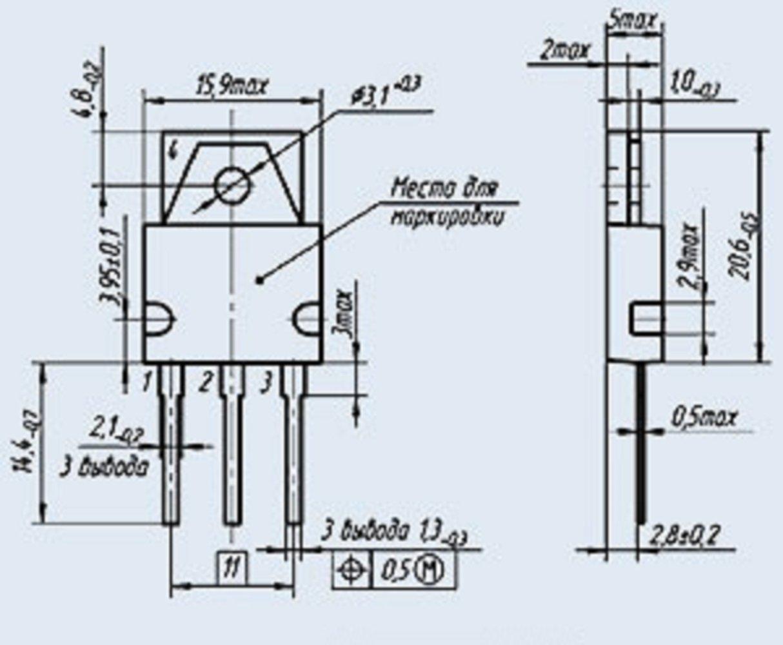 S.U.R. & R Tools Transistors silicon KT892A2 analoge MI10004PF1, TIP661 USSR 2 pcs by S.U.R. & R Tools (Image #3)