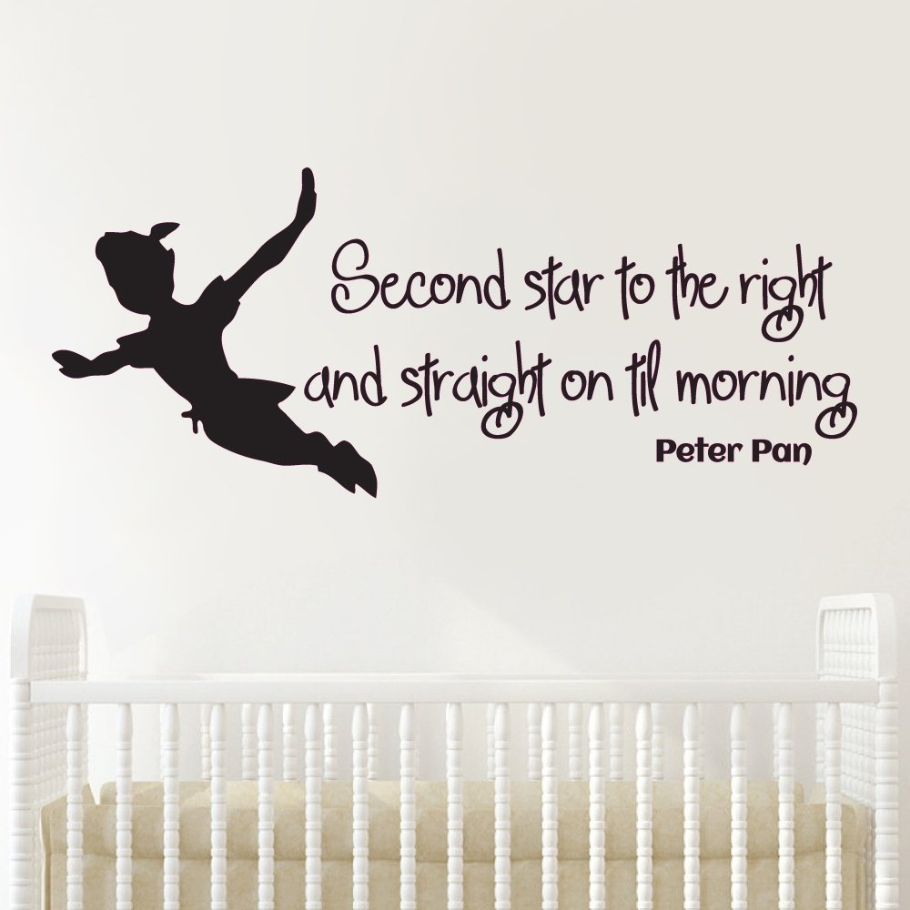 Vc designs ltd tm peter pan second star quote childrens vc designs ltd tm peter pan second star quote childrens bedroom baby nursery kids room playroom wall sticker wall art vinyl wall decal wall mural amipublicfo Gallery