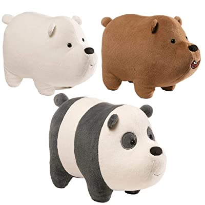 Gund - we Bare Bears 5 x 3.5 Inch Magnetic Stackable Set of 3 Plush Toys: Toys & Games