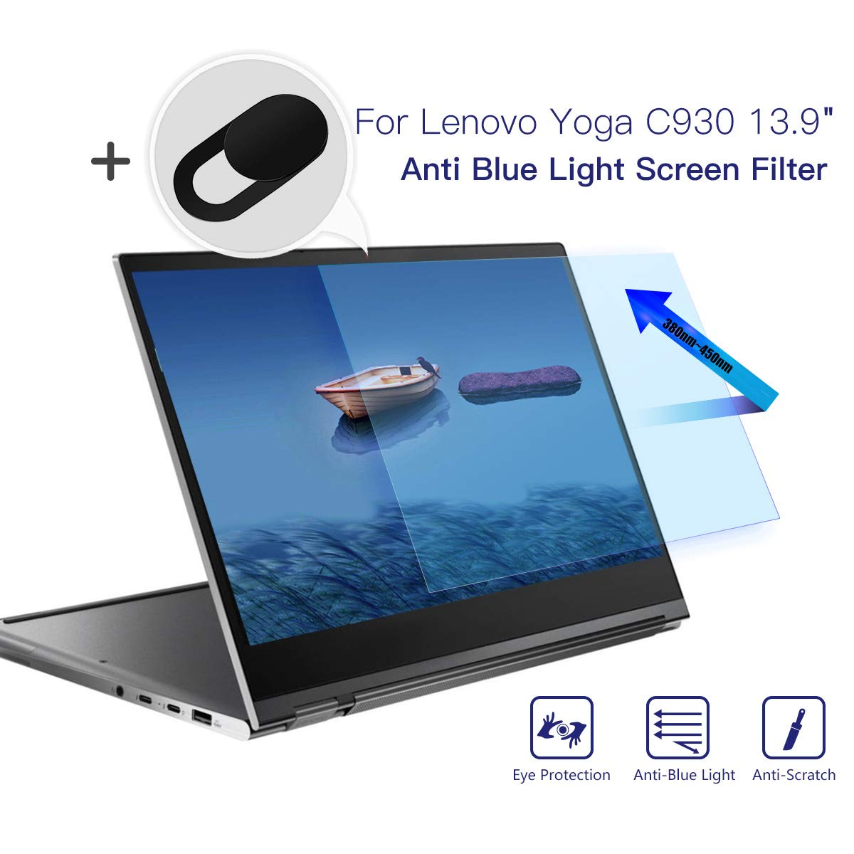 Lenovo Yoga 930 C930 Anti Blue Light Screen Filter, Anti Glare Screen Protector Eye Protection Blue Light Blocking Screen Protector for 13.9