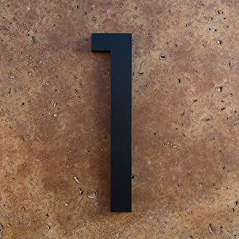 Modern House Numbers Black Color Aluminum