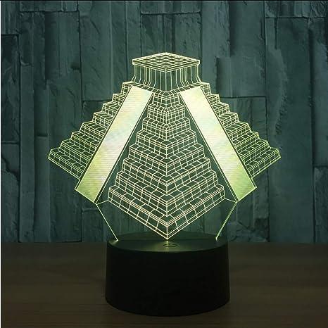 Shuyinju Pirámide En México Luz 7 Colores Que Cambia La ...