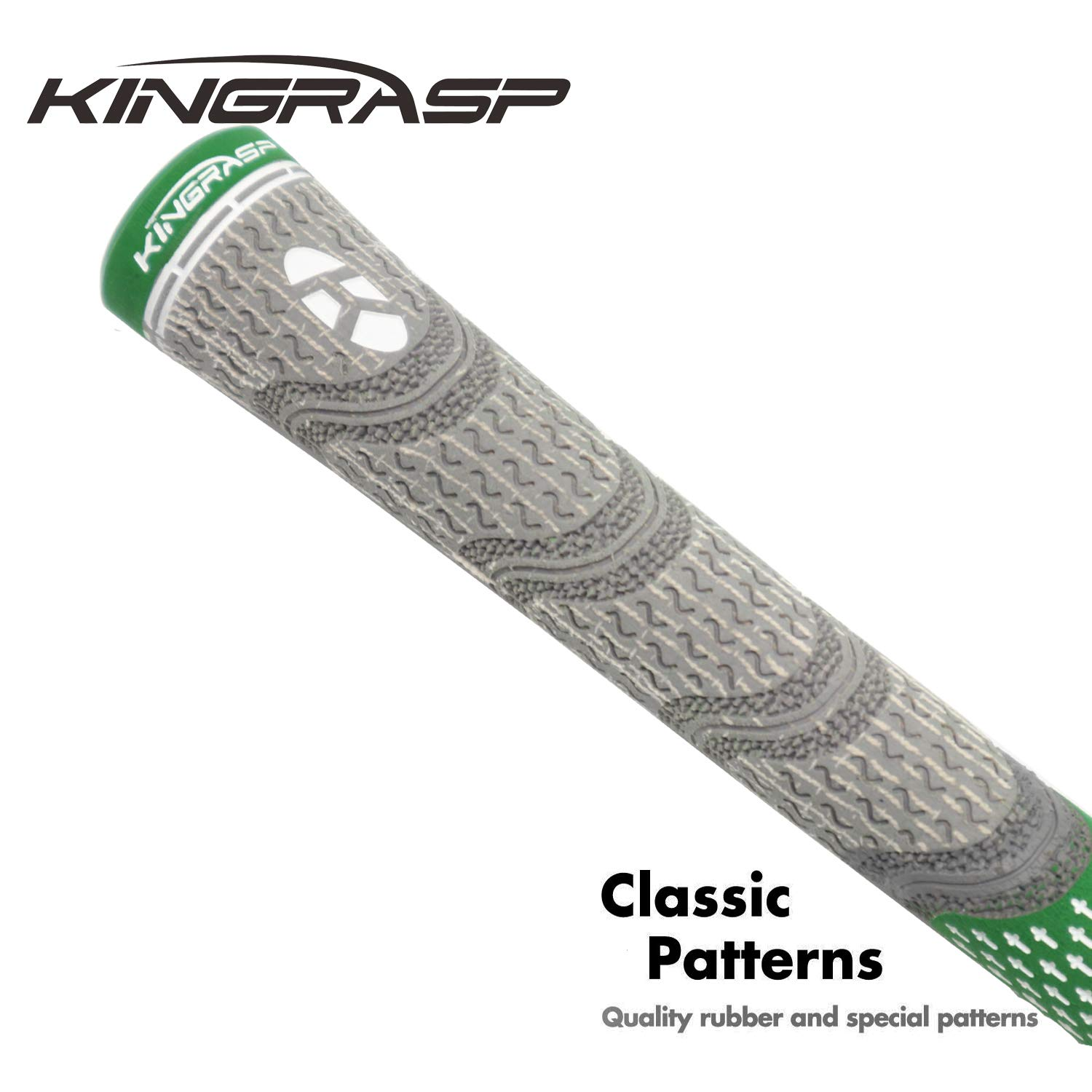 KINGRASP Multi Compound Golf Grips Set of 13 Golf Grip Standard midsize Size - All Weather Rubber Golf Club Grips Ideal for Clubs Wedges Drivers Irons Hybrids (Gray/Green, Standard) by KINGRASP (Image #4)