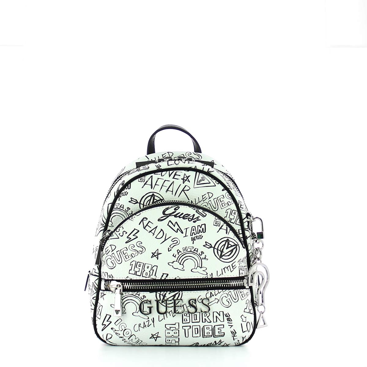 Guess - Manhattan, Mochilas Mujer, Multicolor (Graffiti/Gft), 21x27.5x10 cm (W x H L): Amazon.es: Zapatos y complementos
