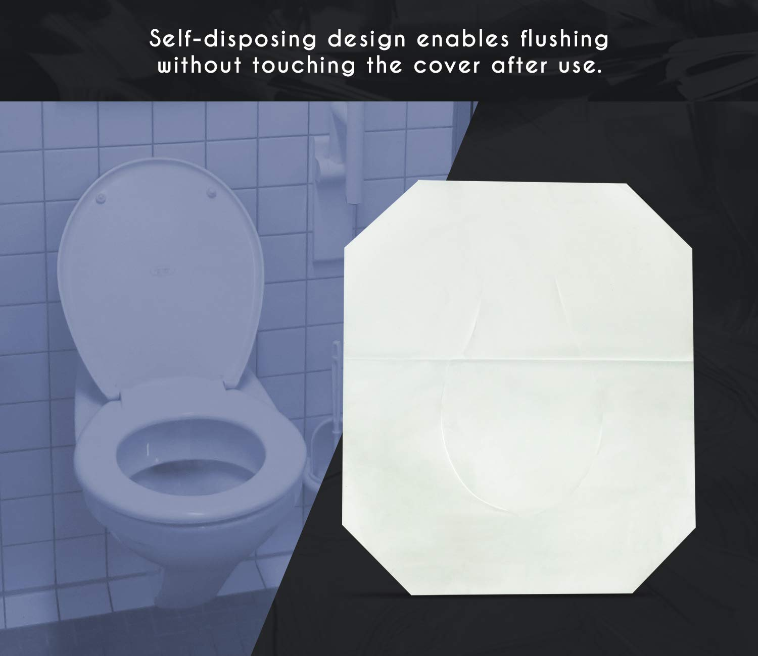 Paper Toilet Seat Covers - Disposable - Half-Fold Toilet Seat Cover Dispensers - White - 4 Pack of 250-14''L x0.1''W x 16''H by Juvale (Image #5)