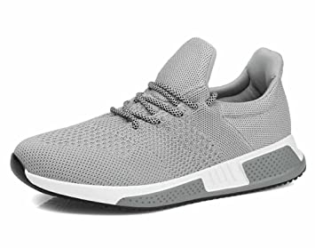 7ba0d3a7472930 Männer Breathable Laufschuhe Herbst Winter New Sneakers Casual Athletic  Schuhe (Farbe   Grau