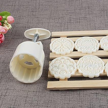Molde a presión de galletas de 75 g, luna, con 6 sellos, para decoración otoñal: Amazon.es: Hogar