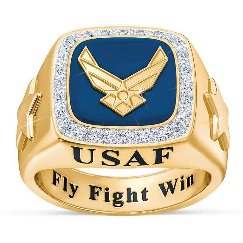 The Danbury Mint Personalized Men's Military Rings – Army, Air Force, Navy,  Marine Corps  – Military Gifts for Men – Personalized Men's Rings – Gifts
