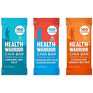 Health Warrior Chia Bars Dessert Variety Pack, 15 Count