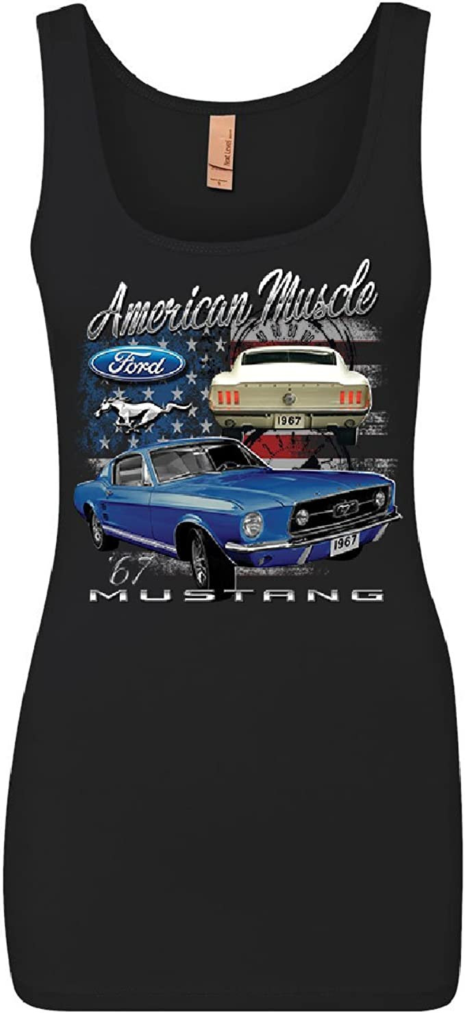 Ford Mustang VIP Parking Only Muscle Shirt Yellow Boss 302 Muscle Car Sleeveless