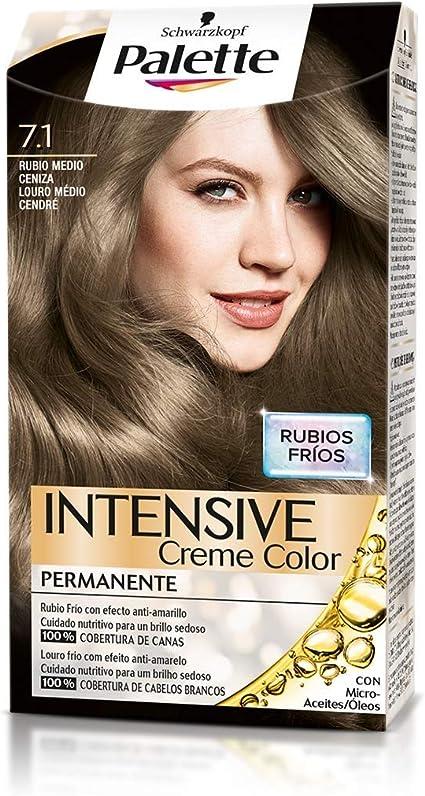 Palette Intense - Tono 7.1 Rubio Medio Ceniza - Coloración ...