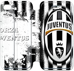 iPhone 4 4s Cell Phone Case FC Juventus Logo Colorful Printing Leather Flip Case Cover 3ERT490307