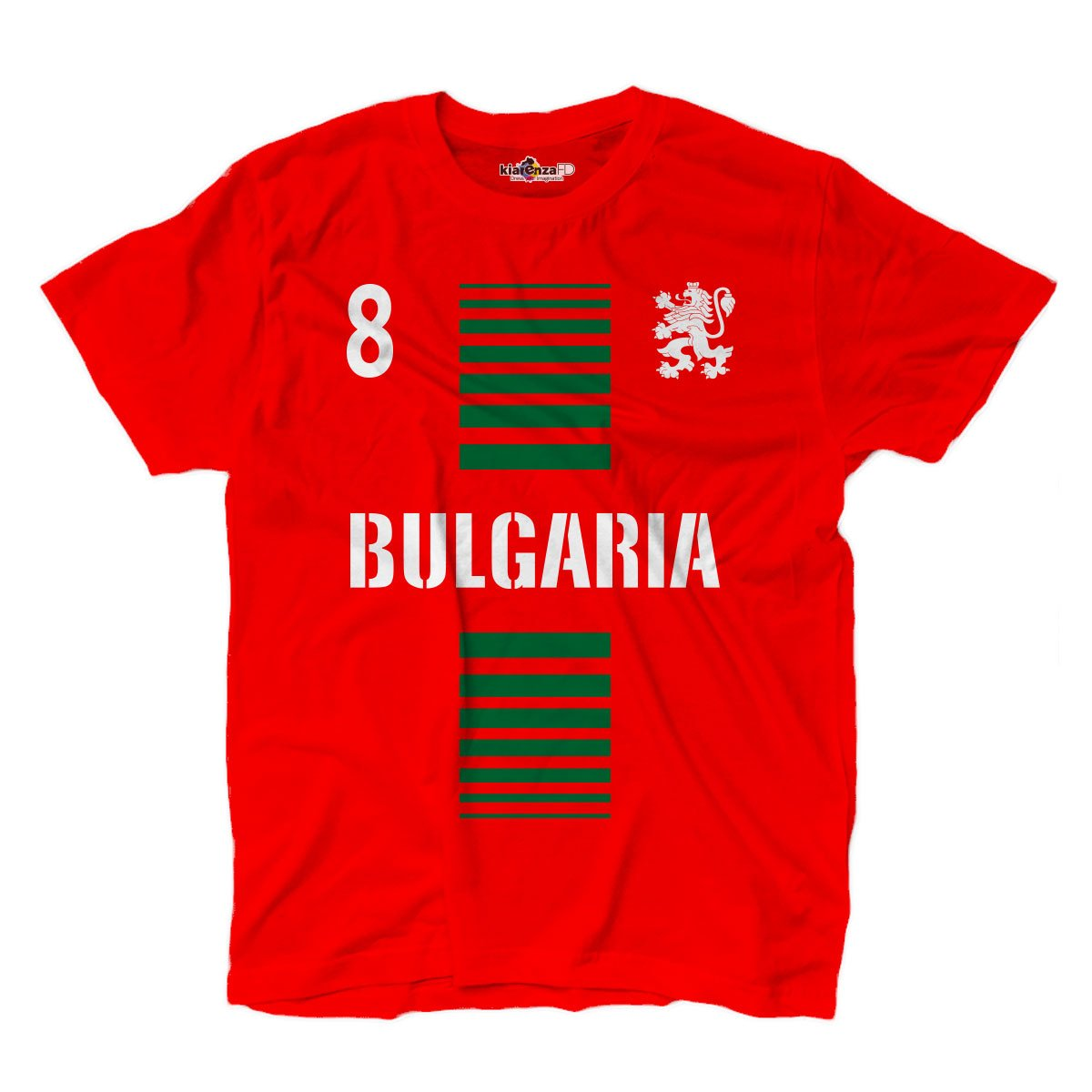 KiarenzaFD T-Shirt Manner National Sport Bulgarien Bulgaria 8 Fussball Sport Europa Leone 2 Streetwear Shirts
