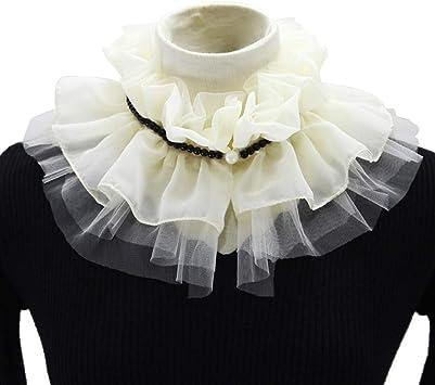 Hunpta@ Collar Falso, 1 Paquete Retro Mujeres Elegante Blusa de Encaje Desmontable False Cuello de Camisa, Blanco: Amazon.es: Deportes y aire libre