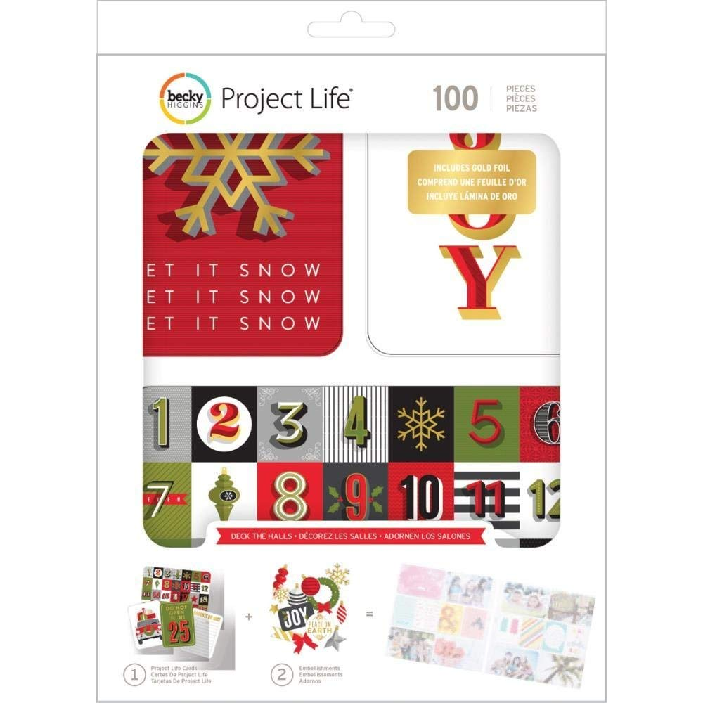 American Crafts Becky Higgins Project Life Christmas Deck The Halls Edition Collection Value Kit (12 Pack)