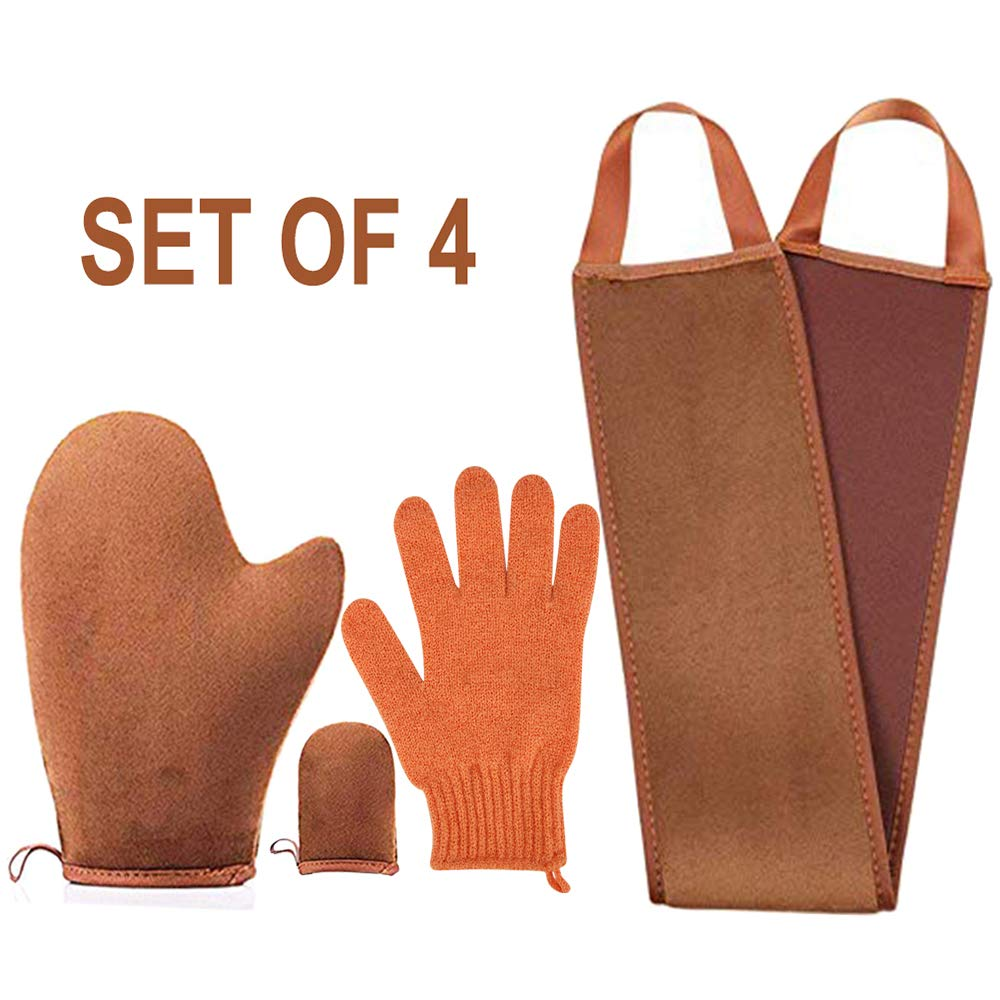 Amazon Com 4 Pack Self Tanning Mitt Applicator Kit With Self Tan Mitt Applicator Exfoliating Gloves Tanning Back Lotion Applicator Mini Self Tanner Mitt Self Tanner Mitt Tanning Mitt Applicator Kit Beauty