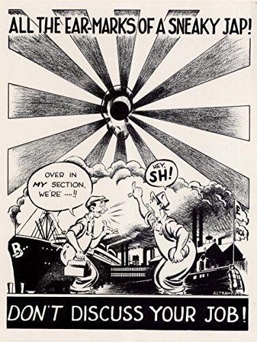 Wee Blue Coo Prints Propaganda USA SPY Japanese WAR WWII 30X40 CMS FINE Art Print Art Poster ()