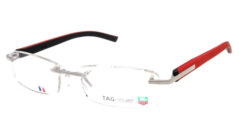 fedd5cf3a8 Amazon.com  Tag Heuer TRENDS 8108 Eyeglasses 005 Polished Red Black 54mm   Clothing