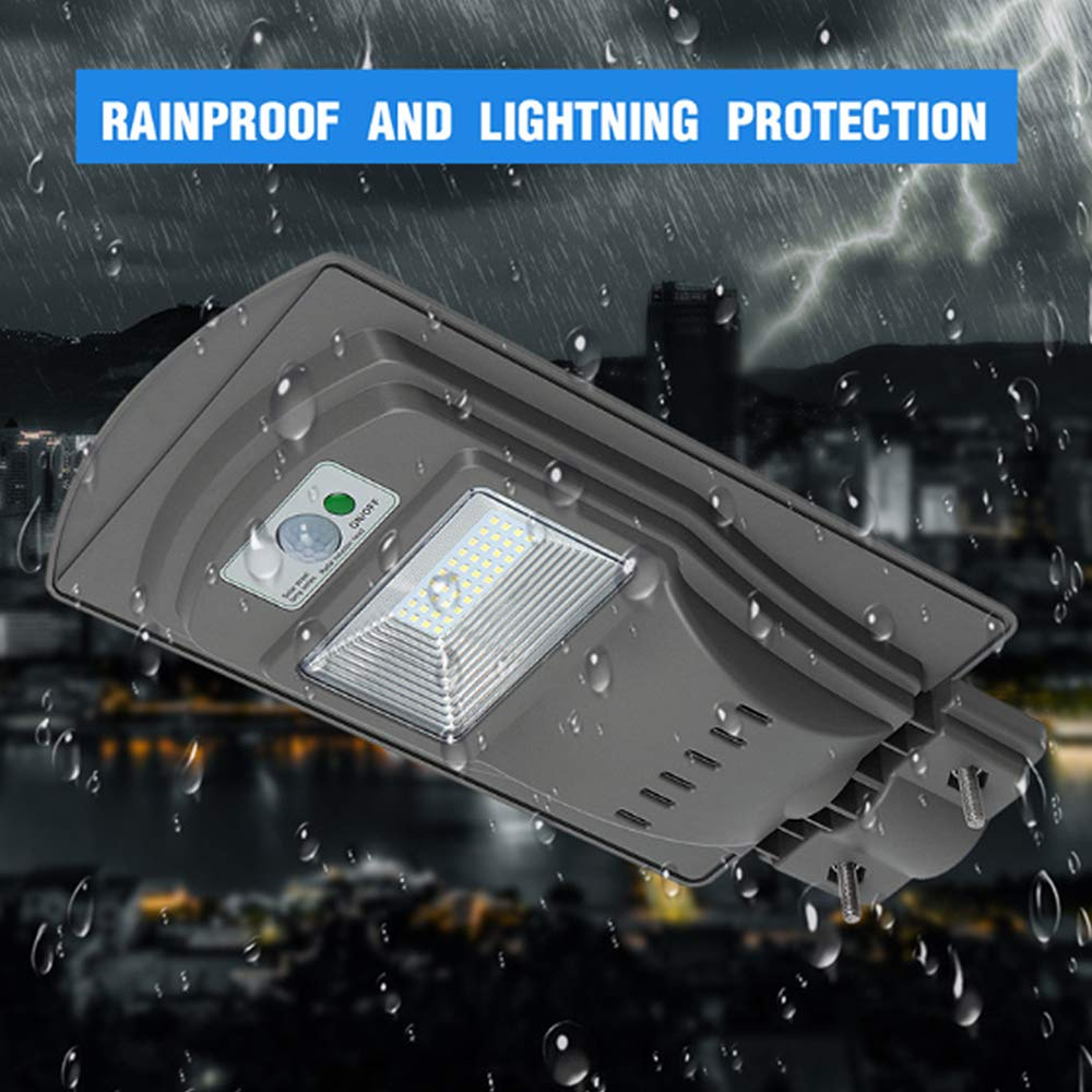HAPPYDAY LED Solar Lamp Wall Street Light Dusk to Dawn Super Bright Motion Sensor Waterproof Security Lamp for Garden Yard