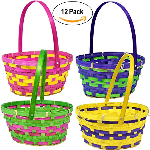 12 Bamboo Easter Baskets