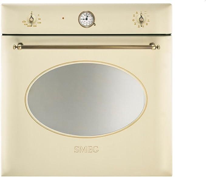 Smeg SF855PO - Horno (79L, 3000W, Eléctrico, Integrado, Cream, Giratorio)