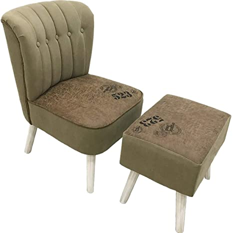 Astonishing Yifontin Accent Chairs Ottoman Set Of 2 Slipper Chair Side Chairs Foot Rest Stool Set For Bedroom Living Reading Room Brown Olive Green Andrewgaddart Wooden Chair Designs For Living Room Andrewgaddartcom