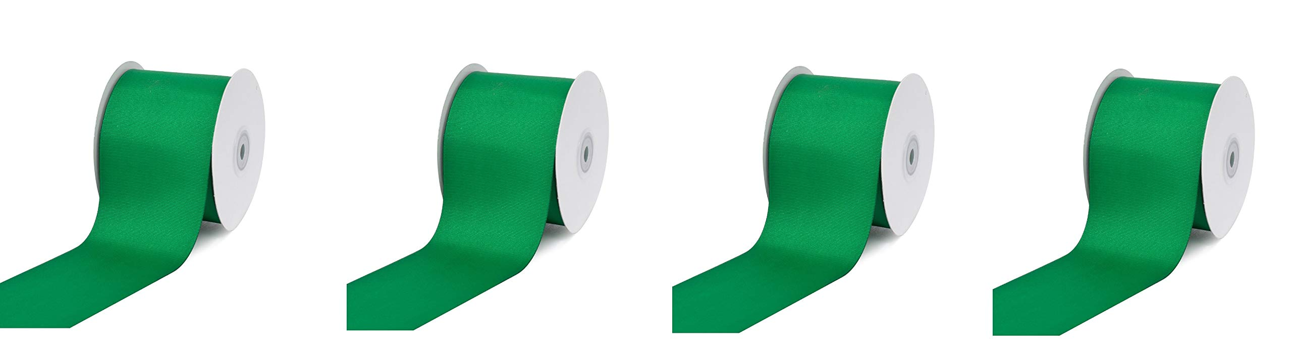 Creative Ideas 3'' Inch Solid Grosgrain Ribbon, 25 Yards, Emerald Green, 25 yd (4-Pack) by Creative Ideas (Image #1)