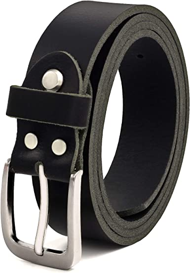 Fa.Volmer Negro Cintur/ón Cuero B/úfalo Puede Acortarse #GSw300801 30 mm De Ancho y aprox 3-4 mm De Grueso