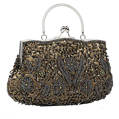 X Bag Beaded Satin NVBAO Womens Evening Bags 26cm Dinner coffee Party 30 Sequin Clutch qwEqZPt