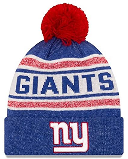 New York Giants New Era NFL  quot Toasty Cover quot  Cuffed Knit Hat with  Pom 484af9acc