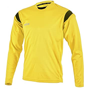 Ropa de fútbol ingleta equipación cuello redondo camiseta camisa de manga larga marcha, color multicolor - amarillo y negro, tamaño XXL: Amazon.es: Deportes ...
