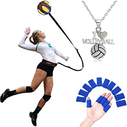27a174662d69e FLYsport Volleyball Training Equipment Aid- Arm Swings Volleyball Warm Up  Tool- Great Trainer for Solo Practice of Serving Tosses and Passing ...