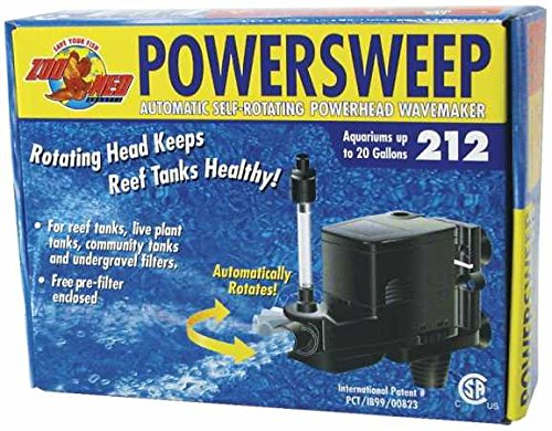 Zoo Power Sweep (Zoo Med Power Sweep 212 Power Head 125gph)