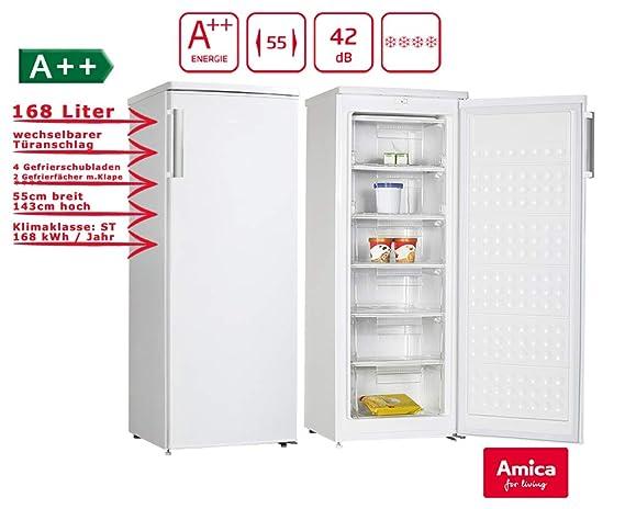 Amica GS 15470 W Congelador a + + 6 compartimentos 168 L 54 cm de ...