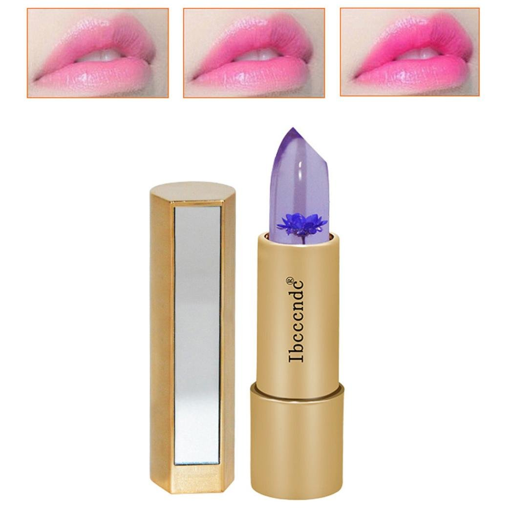 HP95 Lipstick Jelly With Flower INside Long Lasting Moistening Lip Gloss Color Changing Lipstick Moisturizer Lip Balm