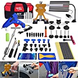 AUTOPDR 78Pcs PDR Tools Pops a Dent Bridge Dent Puller Kit with Hot Melt Glue Gun Glue Sticks for Car Body Paintless Dent Repair