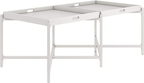 CosmoLiving Coco Coffee Tray Table, White